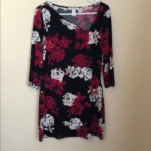 White House Black Market EUC floral tunic dress